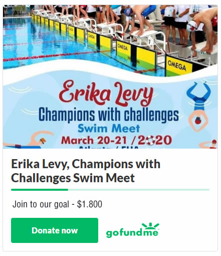 Erika Levy, Champions with Challenges Swim Meet